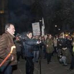 Lega: svuotacarceri e golpe romano  La protesta davanti alla prefettura