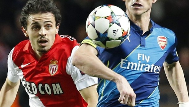 Champions:Arsenal fuori,Monaco ai quarti