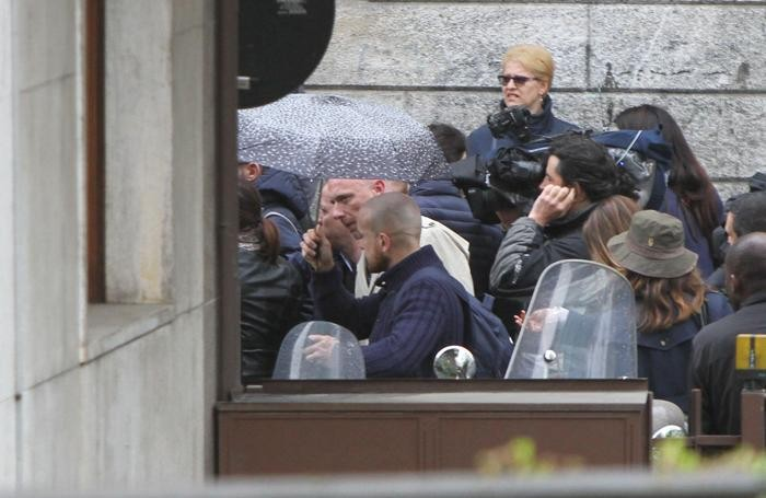 Fuori dal Tribunale di Bergamo