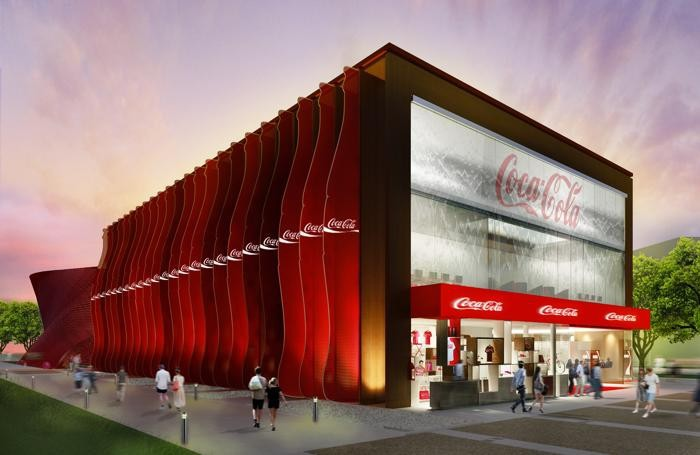 rendering del padiglione della Coca Cola