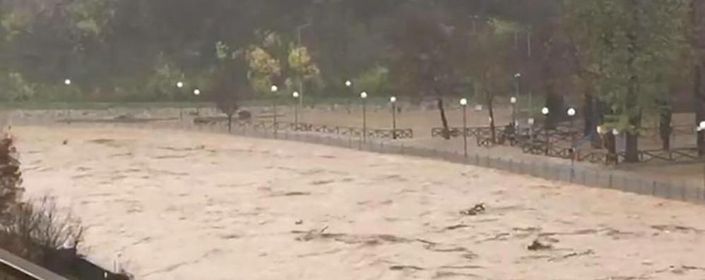 Maltempo al Nord, esonda il Tanaro Il fiume fa paura – Guarda il video