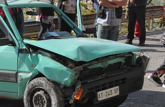 L'auto dell'incidente di Orezzo