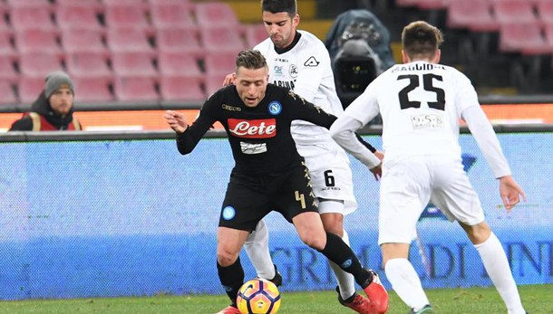 Coppa Italia: Napoli batte Spezia 3-1