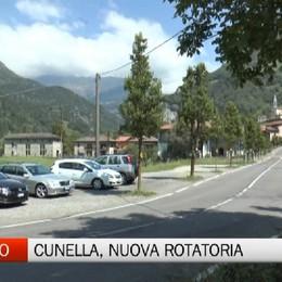Ardesio, nuova rotatoria sulla strada Cunella