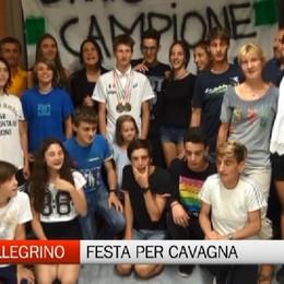 San Pellegrino Terme, festa grande per il giovane campione Alain Cavagna