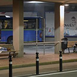 Si abbassano le temperature Autolinee, stazione aperta ai senzatetto