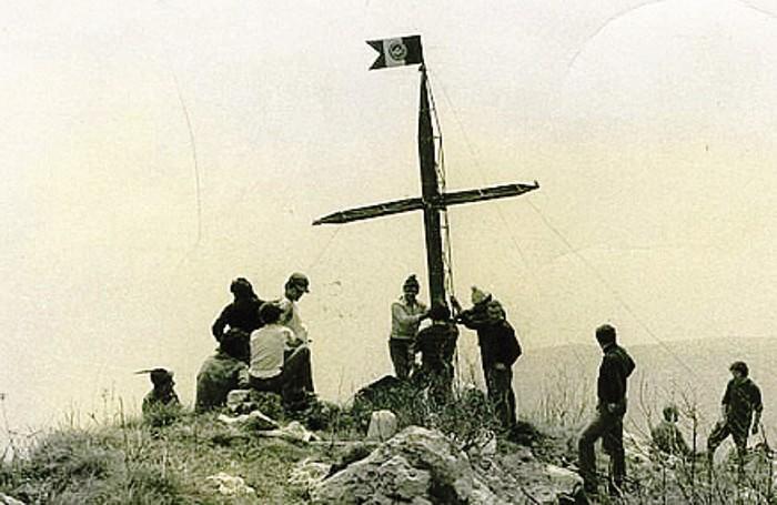 La croce della Corna Lunga