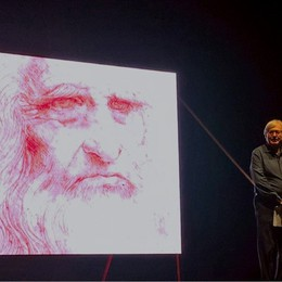 Sgarbi e  Leonardo, «l'imperfetto» Venerdì serata al Creberg Teatro