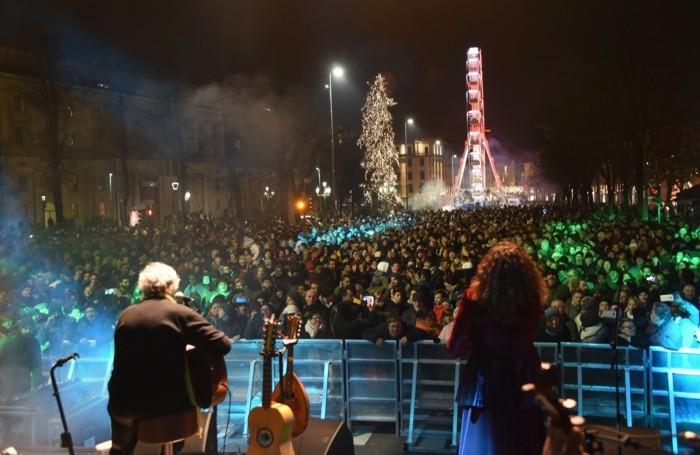Veduta dal palco del concerto