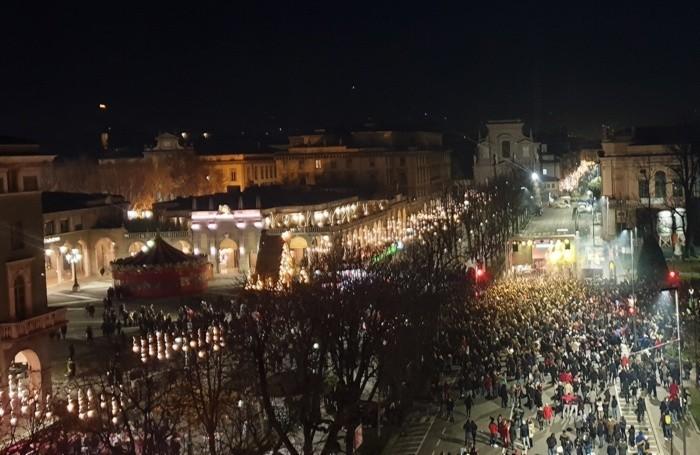 Bergamo affollatissima