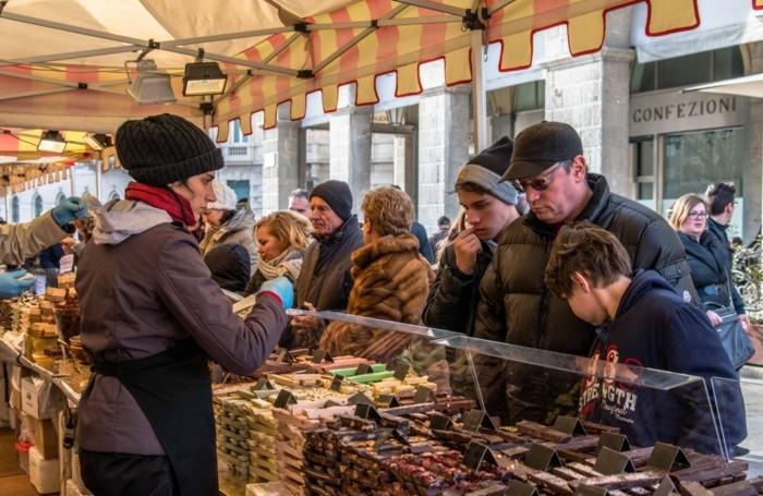Festa del Cioccolato in una foto d'archivio