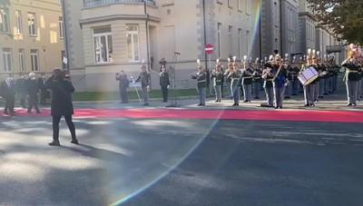 L'arrivo del Capo dello Stato a Bergamo