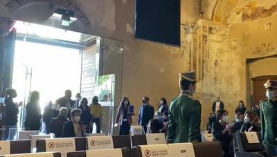 L'arrivo della presidente del Senato a Bergamo