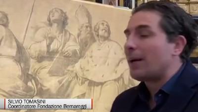 «Nelle alte sfere» l'arte del Coghetti sulla cupola del Duomo di Bergamo