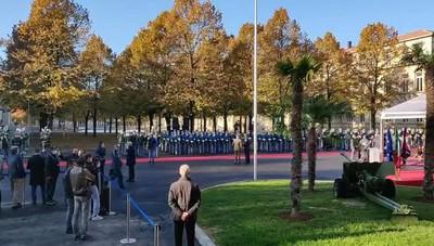 Mattarella a Bergamo, l'accoglienza della Guardia di Finanza