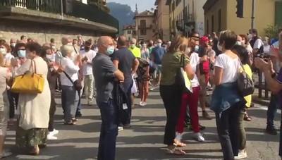 Manifestazione pro ospedale a San Giovanni Bianco