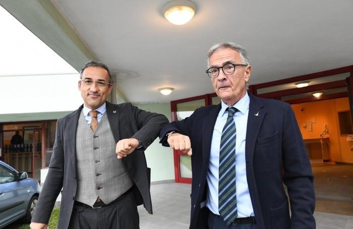 Claudio Bolandrini a sinistra e Giuseppe Prevedini