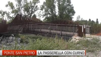 Ponte San Pietro, la passerella ciclopedonale sul torrente Quisa